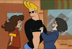 Johnny Bravo with Allyce and Curtis