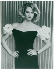 Lovely Cybill Shepherd in a Turturice designed dress