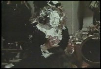 Maddie takes a pie in the face in The Murder's in the Mail