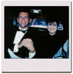 Carl Sautter and Debra in  limo on the way to the Emmys