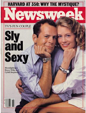 Cover of Newsweek Sept 8, 1986 with Bruce & Cybill
